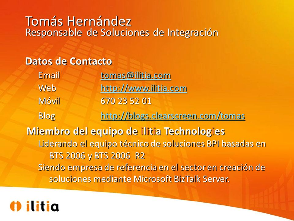 Tomás Hernández Responsable de Soluciones de Integración