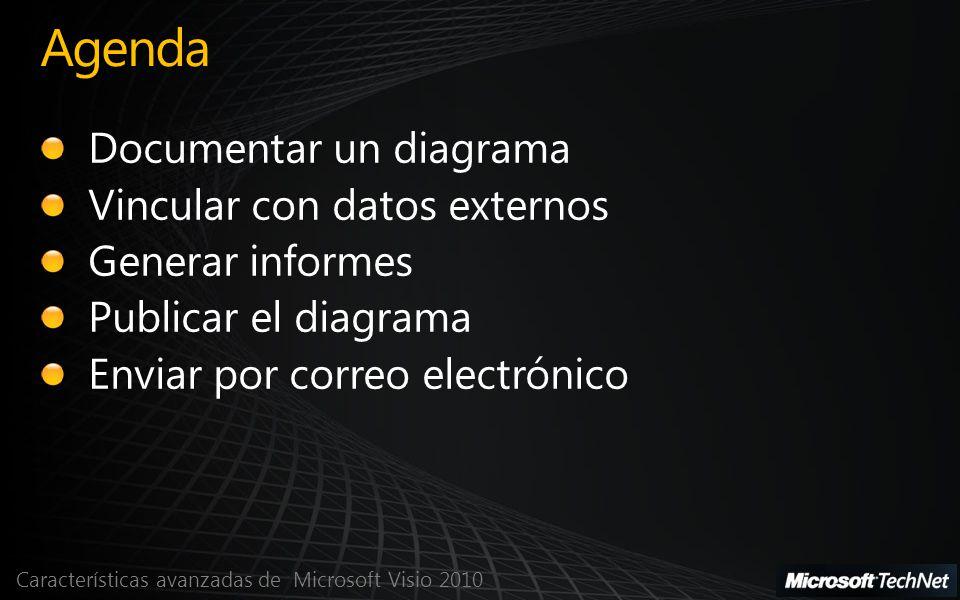 Agenda Documentar un diagrama Vincular con datos externos