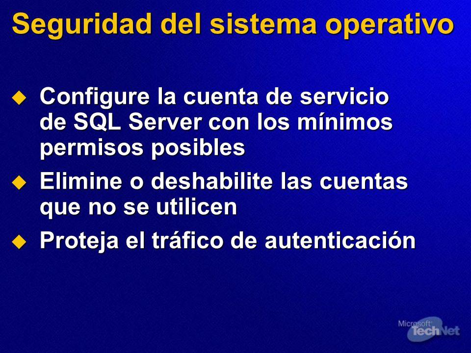 Seguridad del sistema operativo