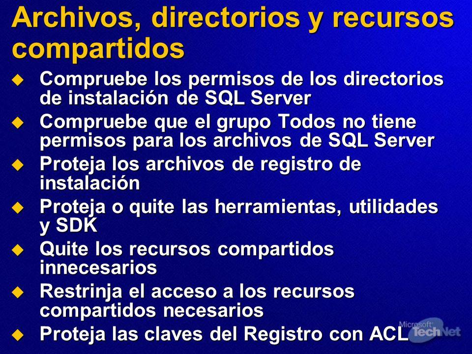 Archivos, directorios y recursos compartidos