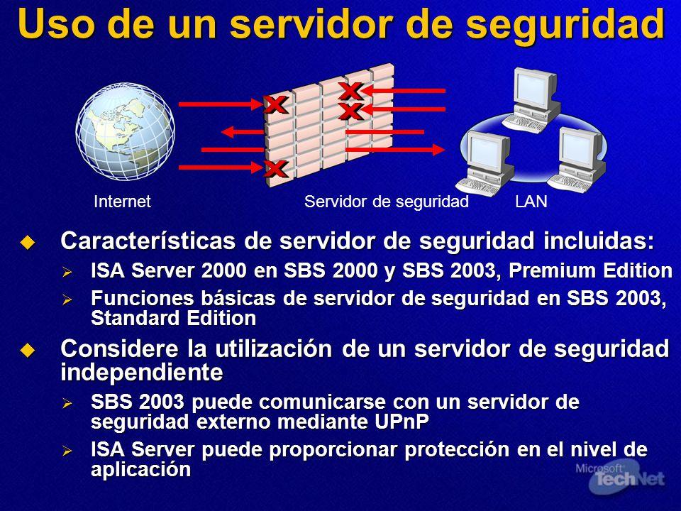 Uso de un servidor de seguridad
