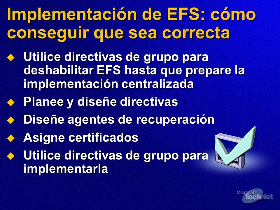 Implementación de EFS: cómo conseguir que sea correcta