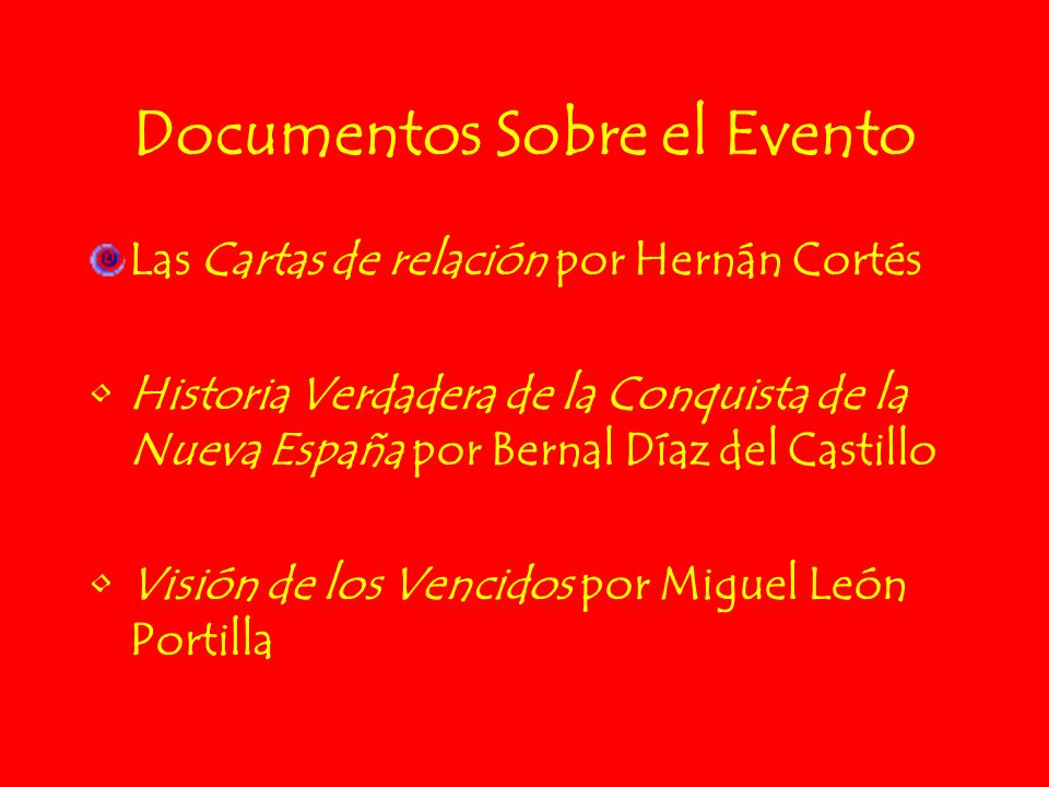 Documentos Sobre el Evento