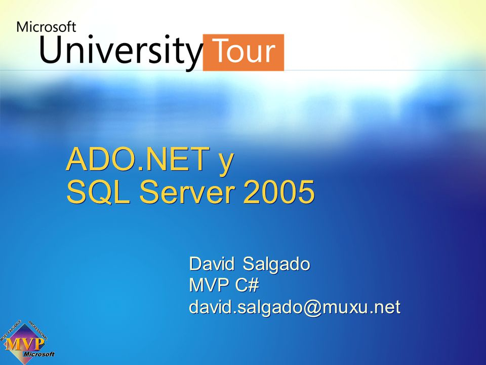 David Salgado MVP C# david.salgado@muxu.net