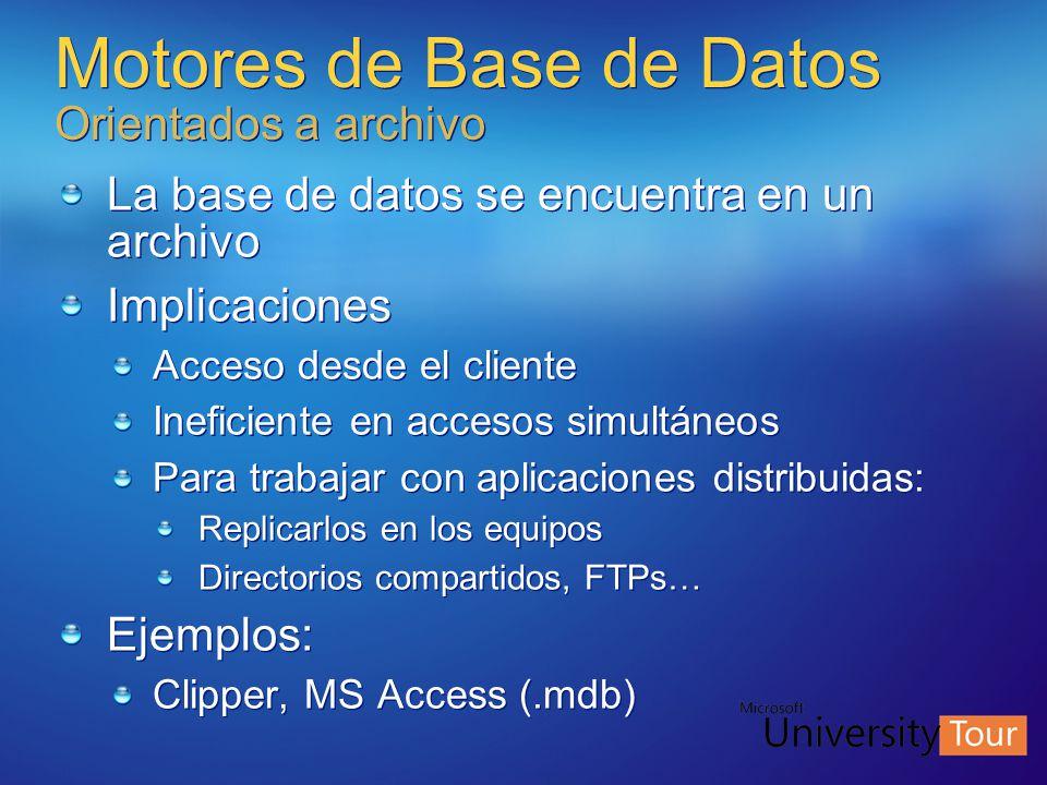 Motores de Base de Datos Orientados a archivo