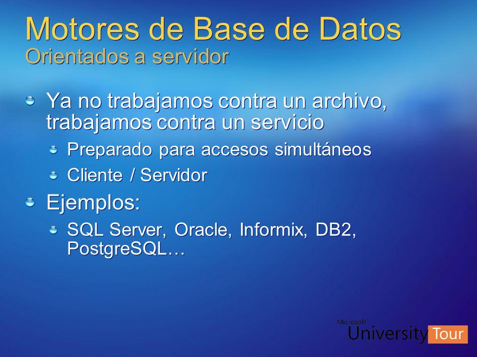 Motores de Base de Datos Orientados a servidor