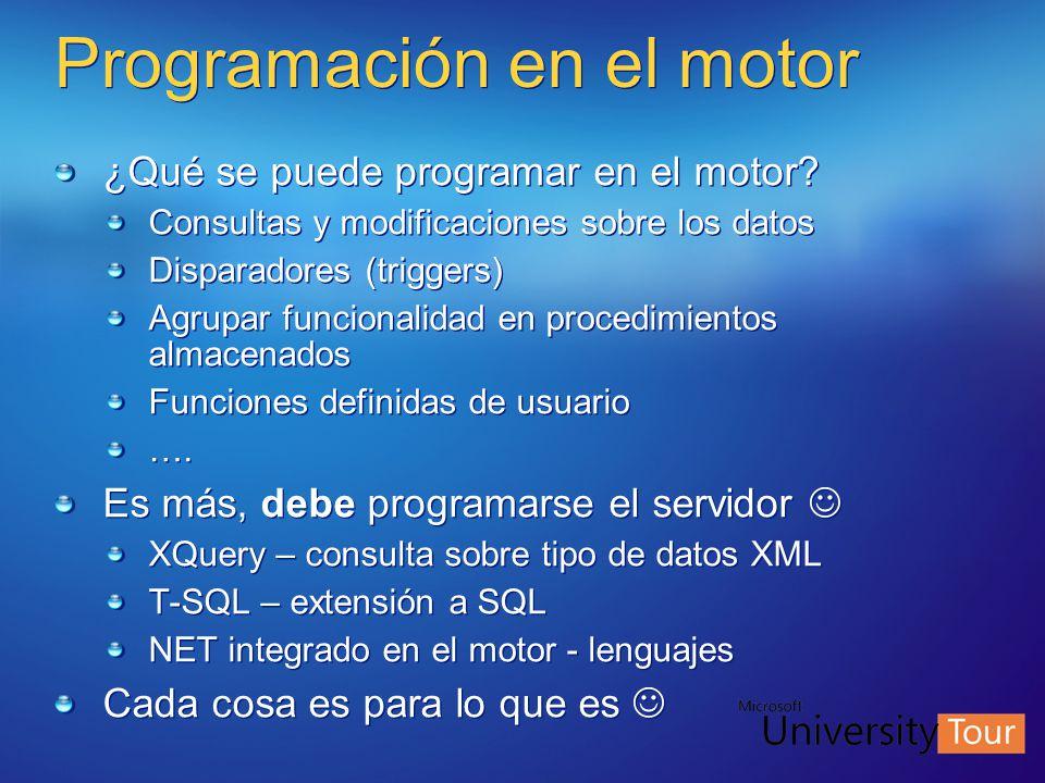Programación en el motor