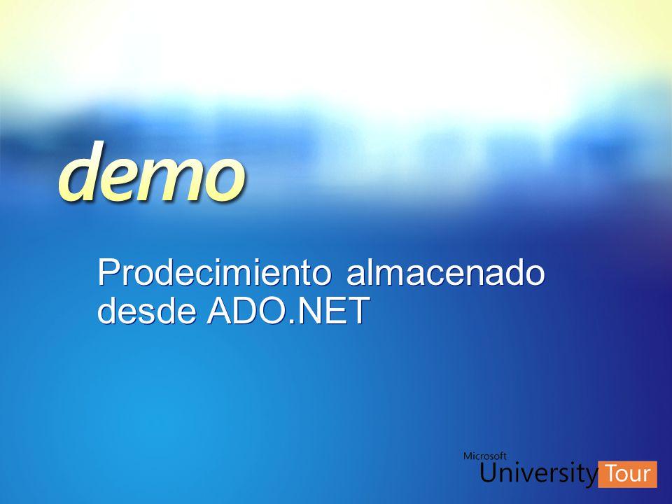 Prodecimiento almacenado desde ADO.NET
