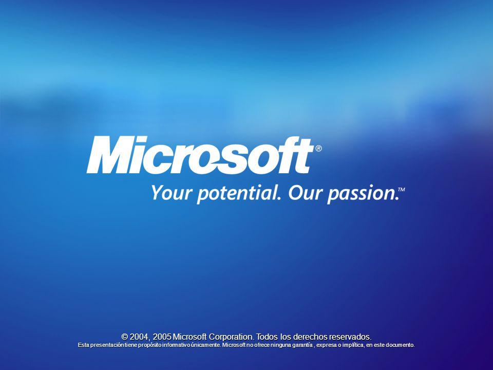 © 2004, 2005 Microsoft Corporation. Todos los derechos reservados.