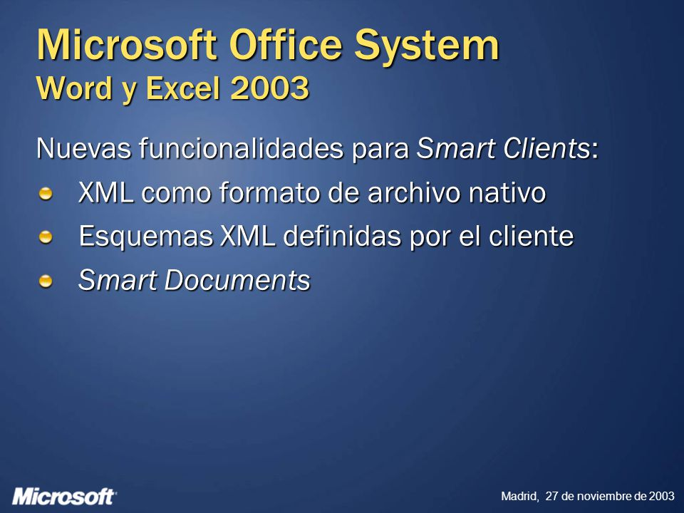 Microsoft Office System Word y Excel 2003