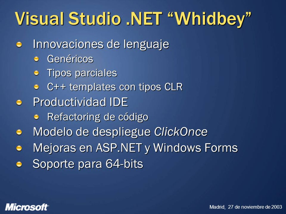 Visual Studio Whidbey