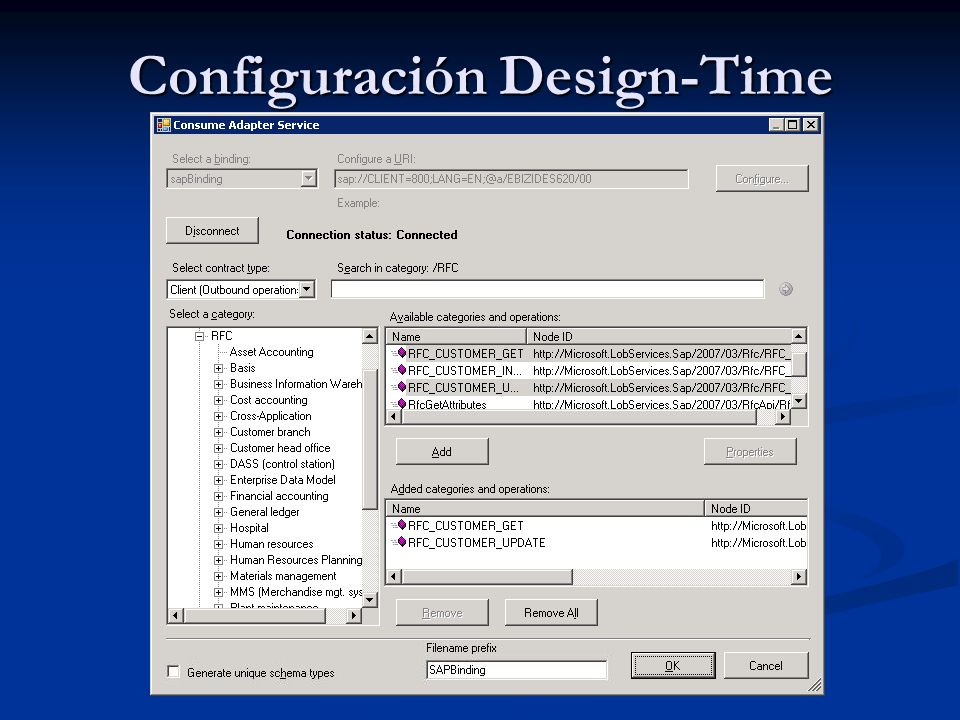 Configuración Design-Time