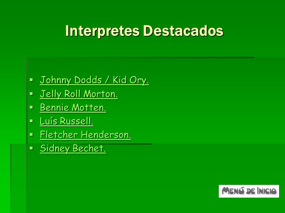 Interpretes Destacados