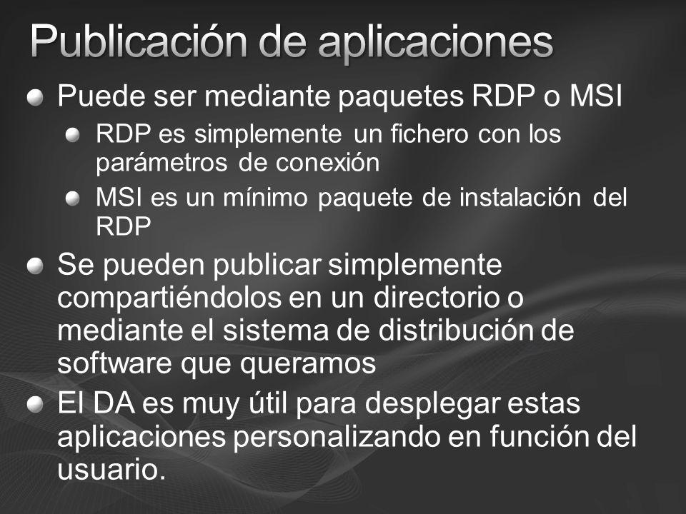Publicación de aplicaciones