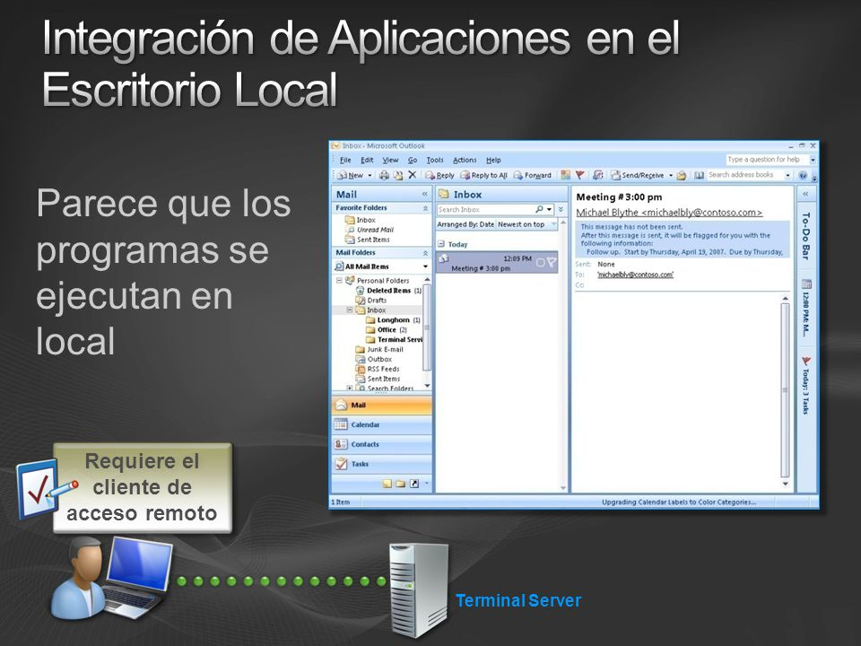 Integración de Aplicaciones en el Escritorio Local