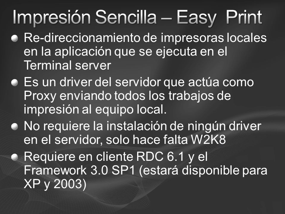 Impresión Sencilla – Easy Print