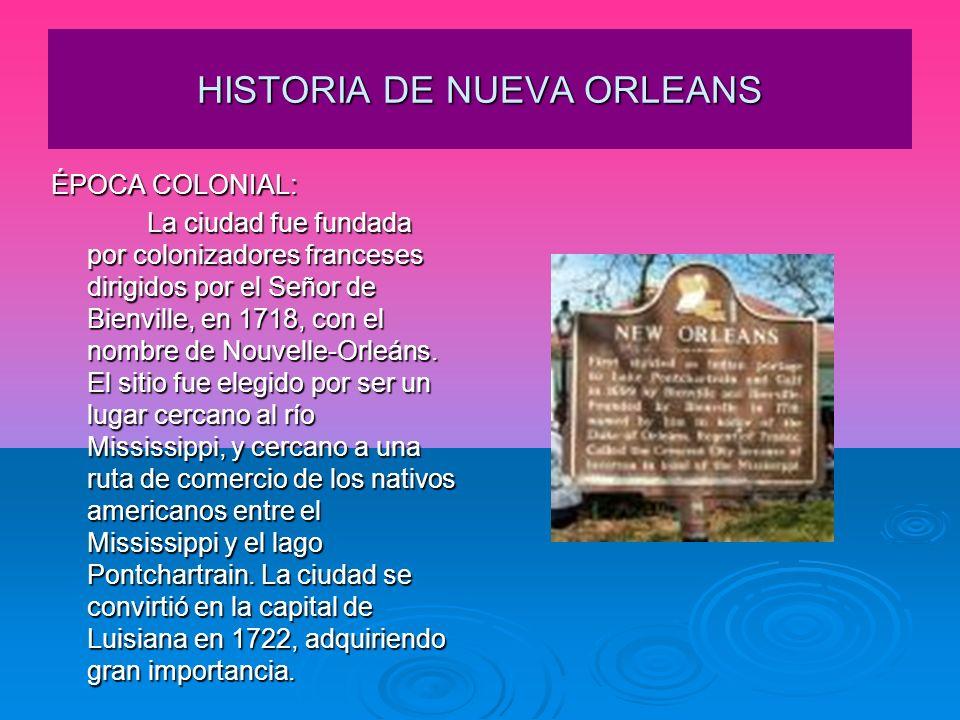 HISTORIA DE NUEVA ORLEANS