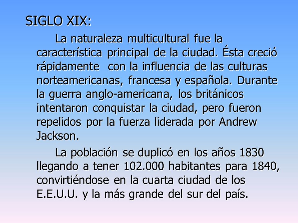 SIGLO XIX:
