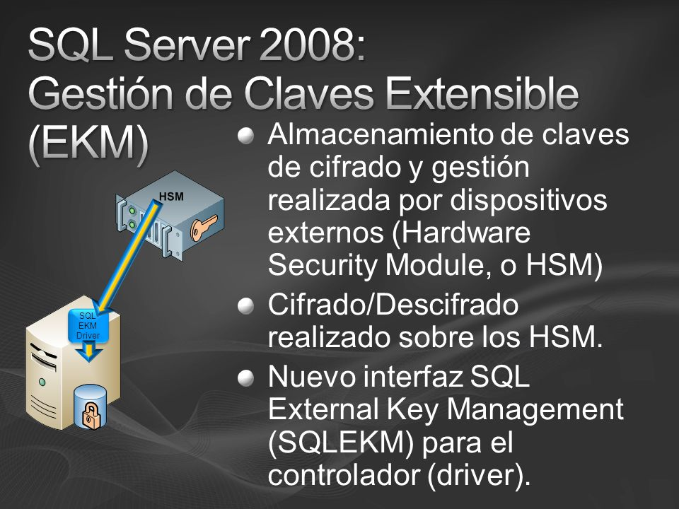 SQL Server 2008: Gestión de Claves Extensible (EKM)