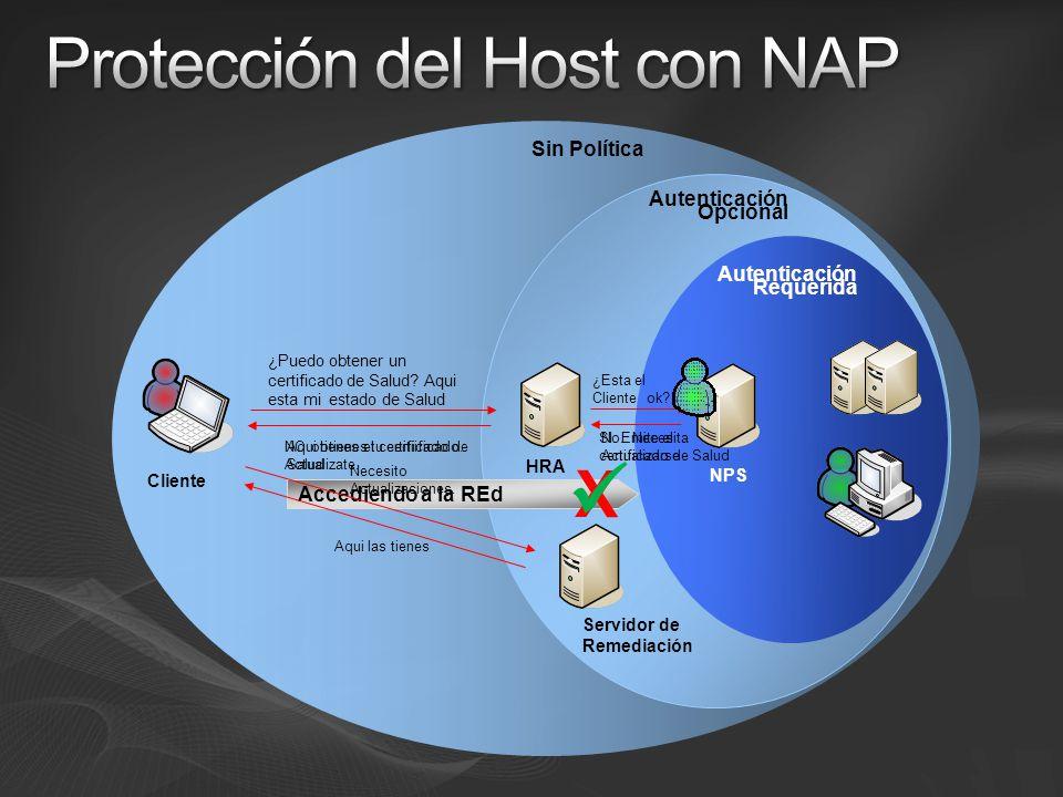 Protección del Host con NAP