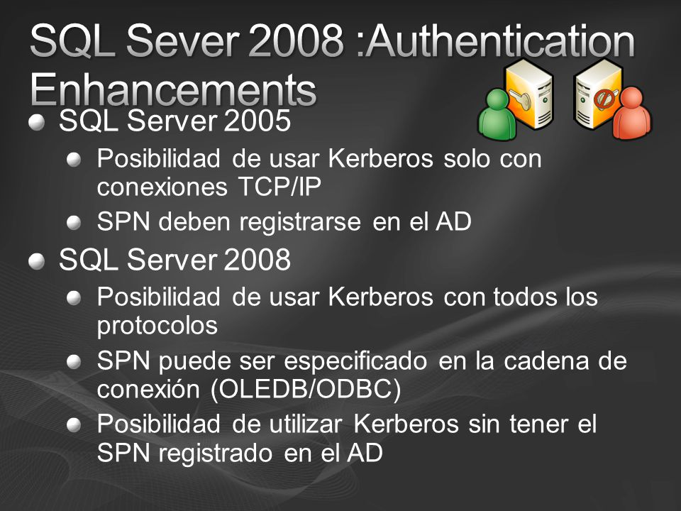 SQL Sever 2008 :Authentication Enhancements