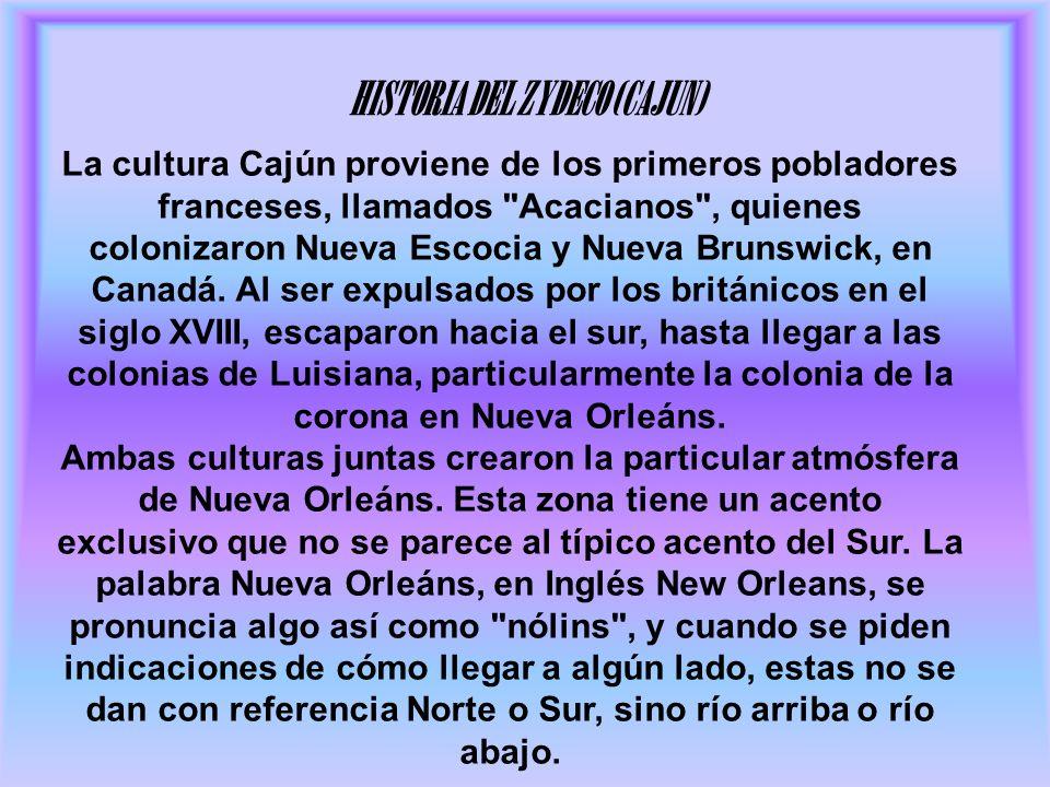 HISTORIA DEL ZYDECO (CAJUN)