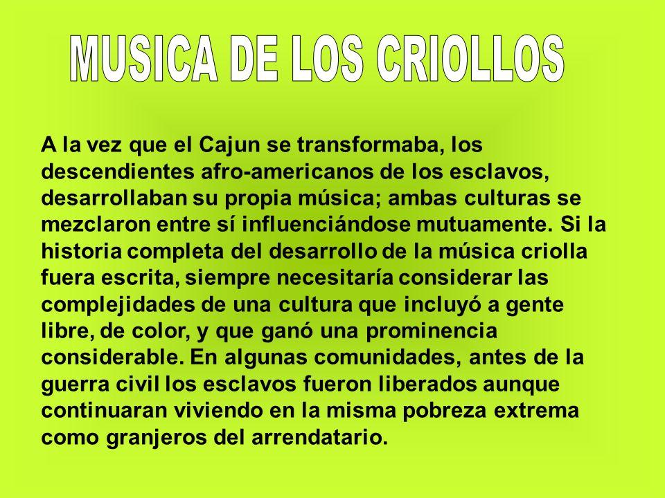 MUSICA DE LOS CRIOLLOS