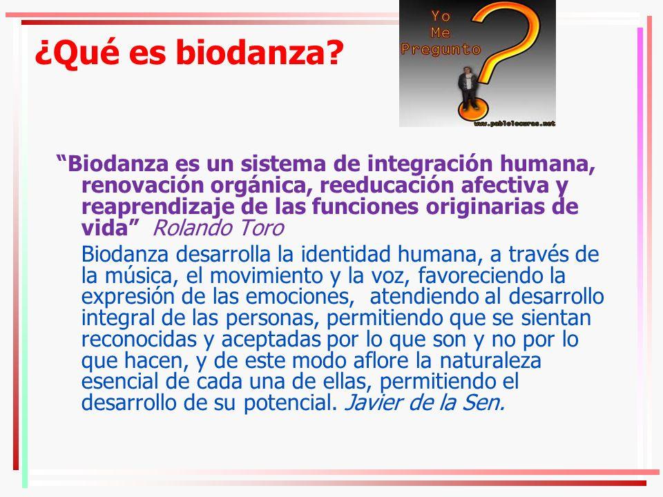 ¿Qué es biodanza