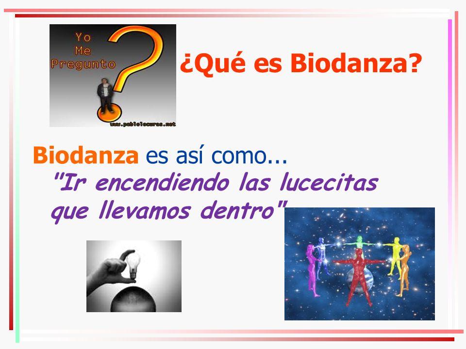 ¿Qué es Biodanza. Biodanza es así como...