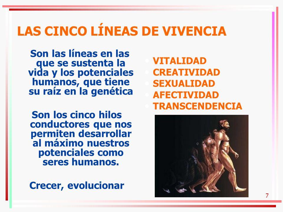 LAS CINCO LÍNEAS DE VIVENCIA