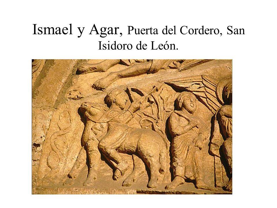 Ismael y Agar, Puerta del Cordero, San Isidoro de León.