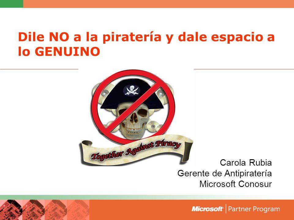 Dile NO a la piratería y dale espacio a lo GENUINO