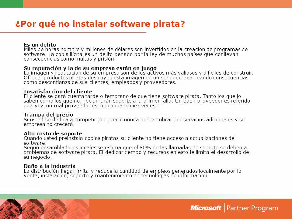 ¿Por qué no instalar software pirata