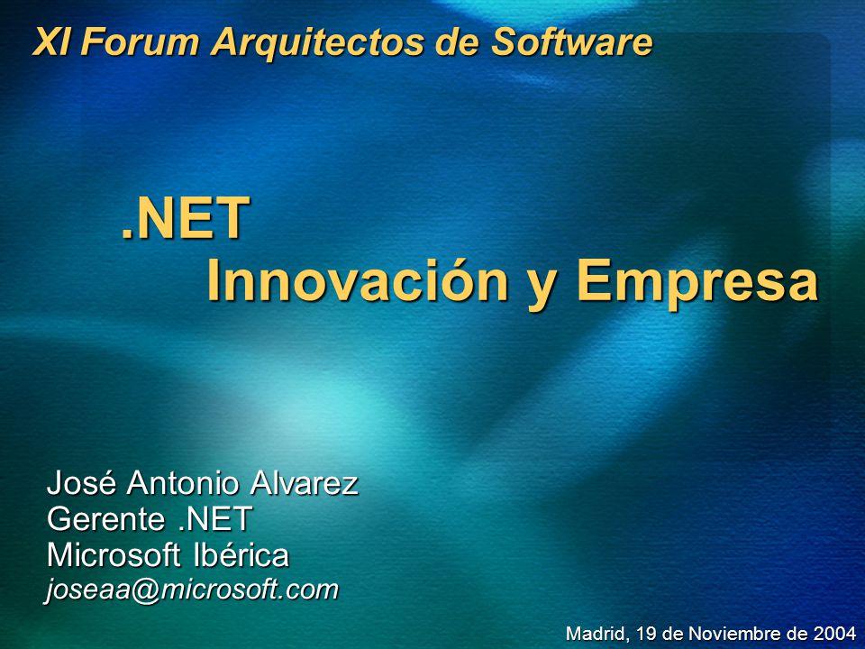 XI Forum Arquitectos de Software .NET Innovación y Empresa