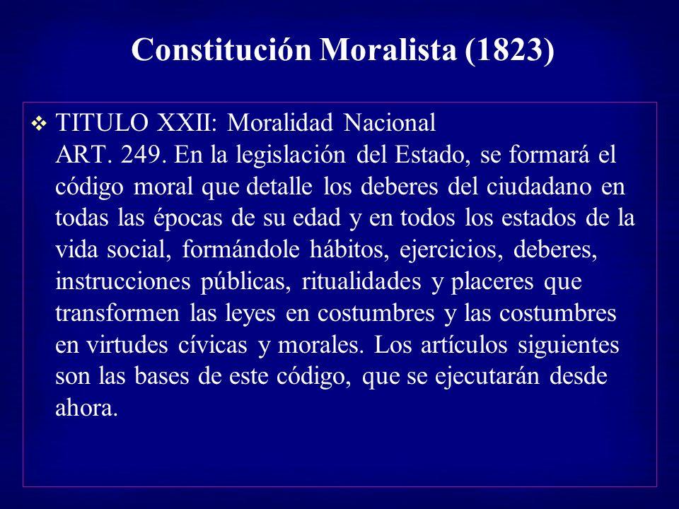 Constitución Moralista (1823)