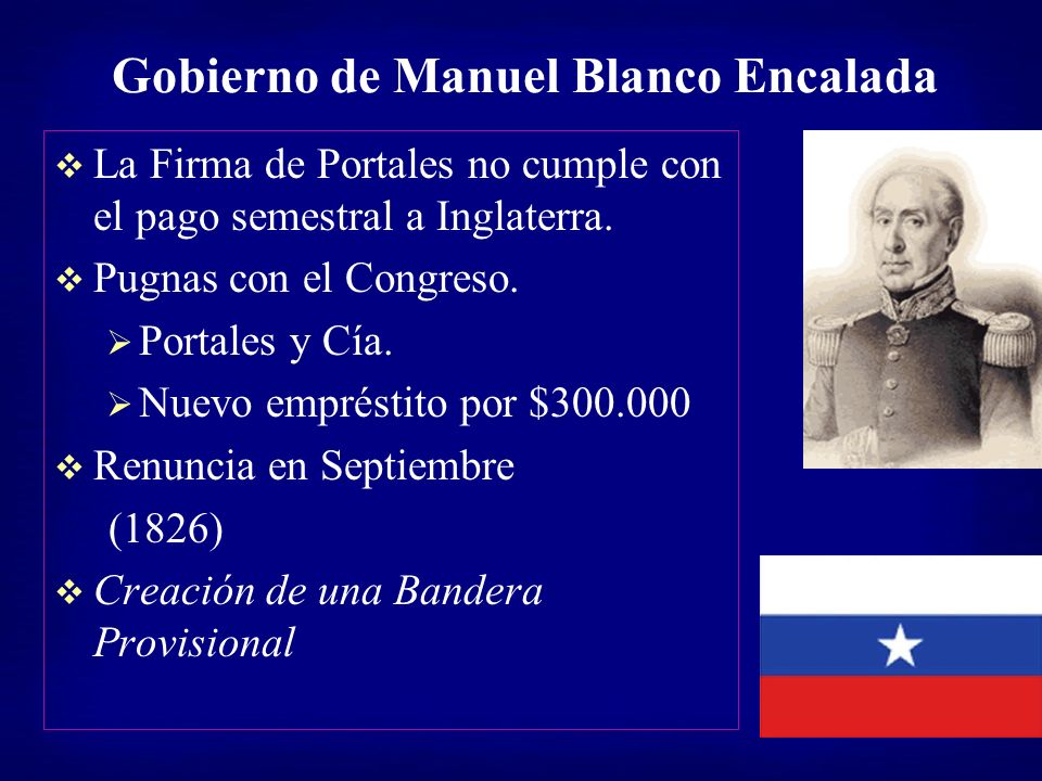 Gobierno de Manuel Blanco Encalada