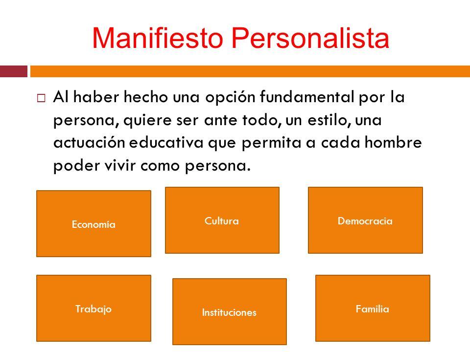 Manifiesto Personalista