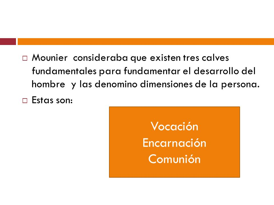 Vocación Encarnación Comunión