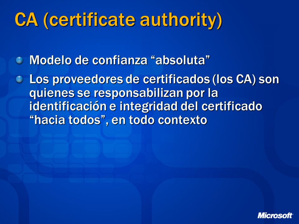 CA (certificate authority)