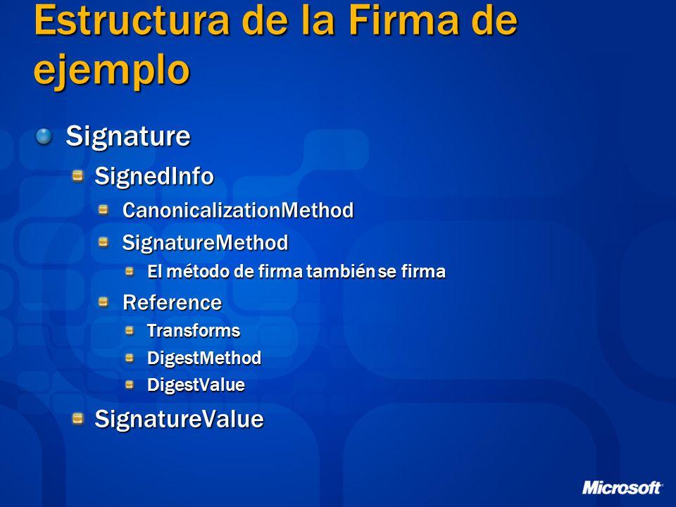 Estructura de la Firma de ejemplo