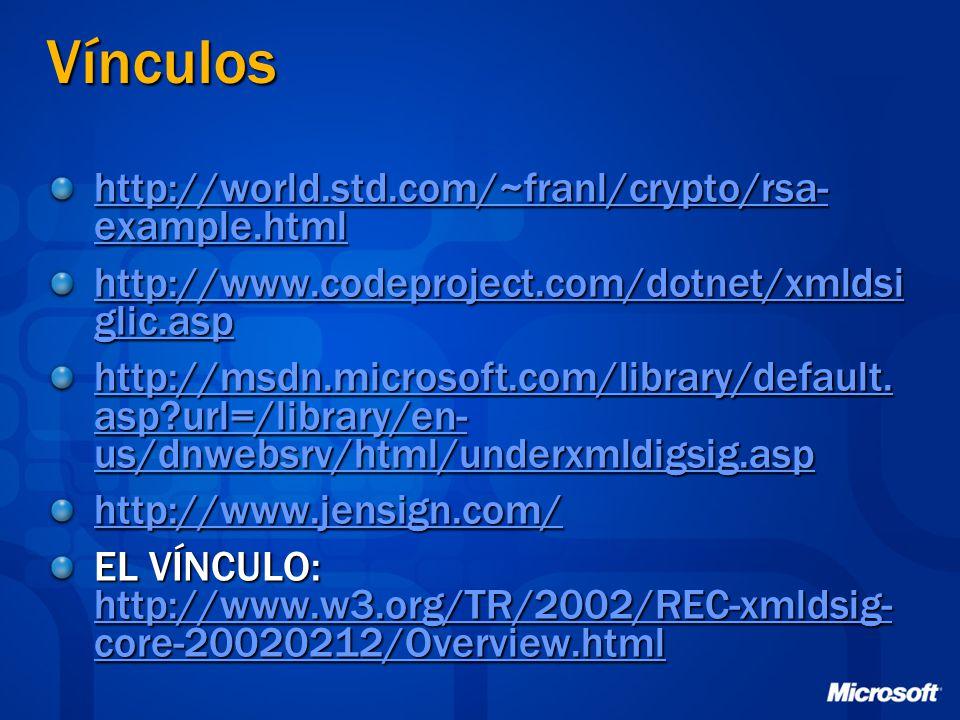 Vínculos http://world.std.com/~franl/crypto/rsa-example.html