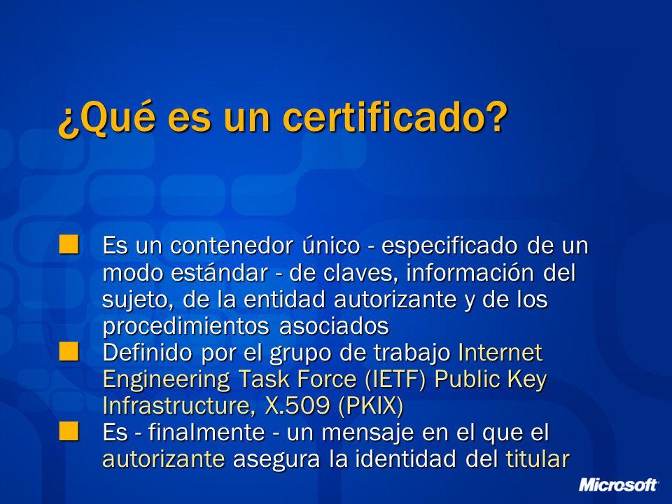 ¿Qué es un certificado