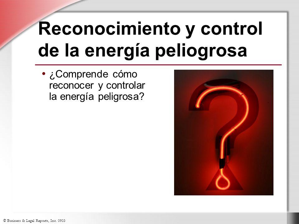 Reconocimiento y control de la energía peliogrosa