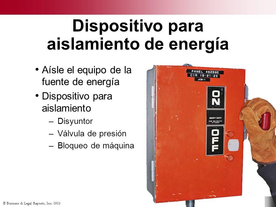 Dispositivo para aislamiento de energía