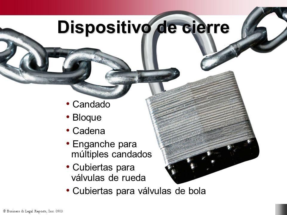 Dispositivo de cierre Candado Bloque Cadena