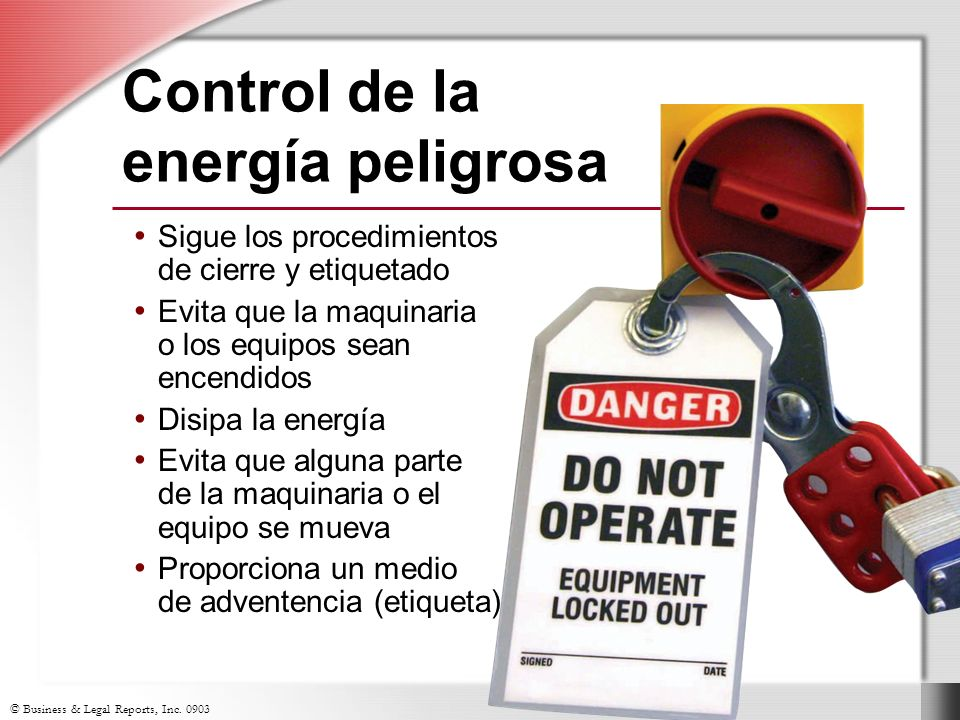 Control de la energía peligrosa