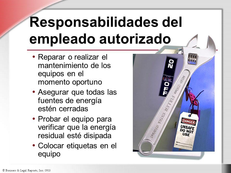 Responsabilidades del empleado autorizado