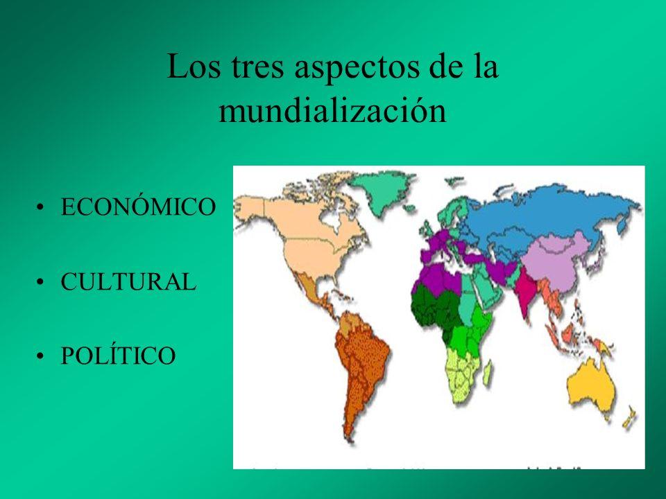Los tres aspectos de la mundialización
