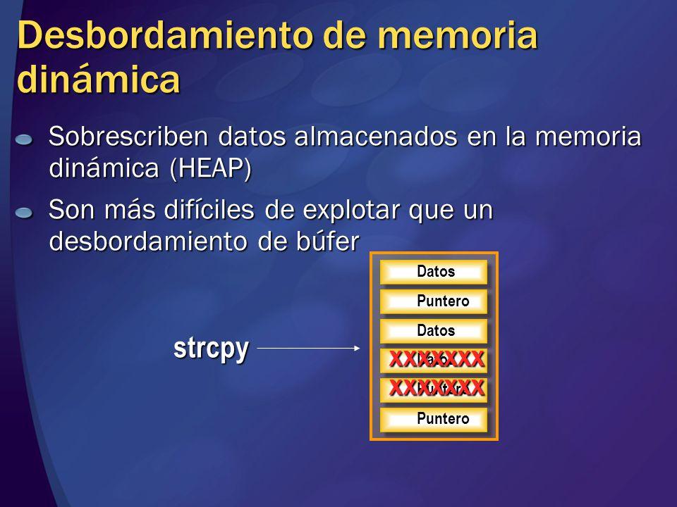 Desbordamiento de memoria dinámica