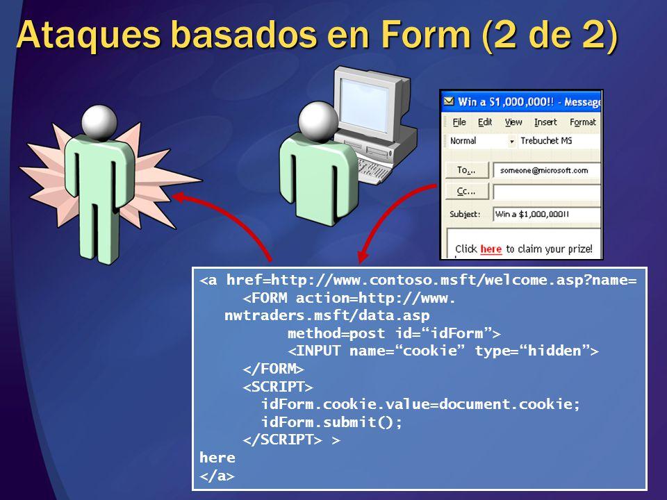 Ataques basados en Form (2 de 2)